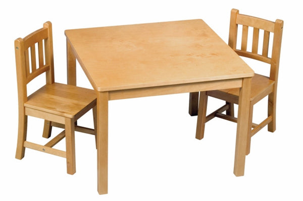 Kid's Mission Birch Table and 2-Chair Set in Honey-Oak Finish