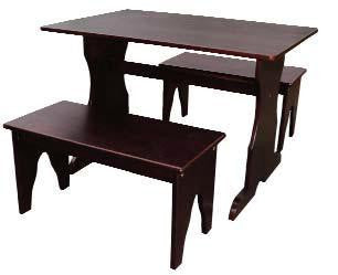 Unfinished Furniture Expo Mocha 3-Piece Kid's Trestle Table Set