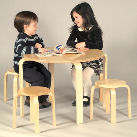 Nordic Kid's 5-Piece Table & Chairs Set in Natural Finish
