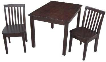 Unfinished Furniture Expo Rich Mocha Kids Mission Table & Chair Set