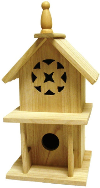 Filagree Birdhouse with Porch - UnfinishedFurnitureExpo