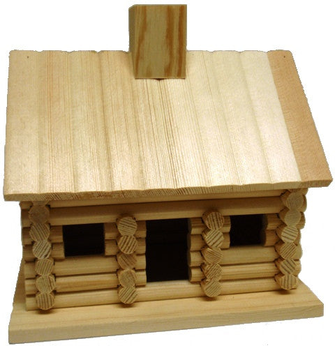 Unfinished Furniture Expo Lincoln Log Cabin Birdhouse