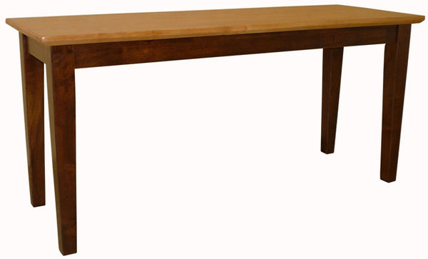 Vineyard Shaker Bench with Espresso & Cinnamon Finish - UnfinishedFurnitureExpo