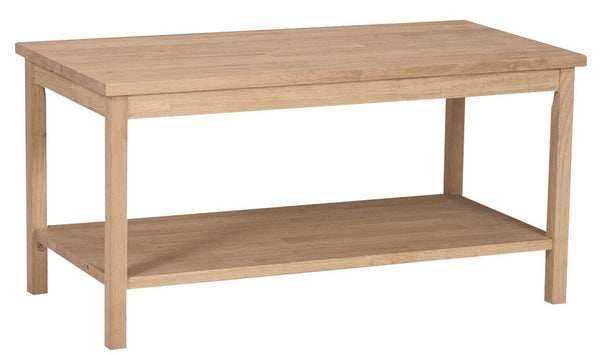 Portman Unfinished Hardwood Coffee Table