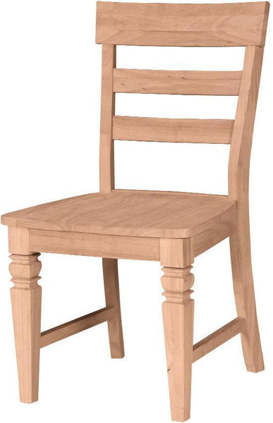 Unfinished Java Hardwood Dining Chair