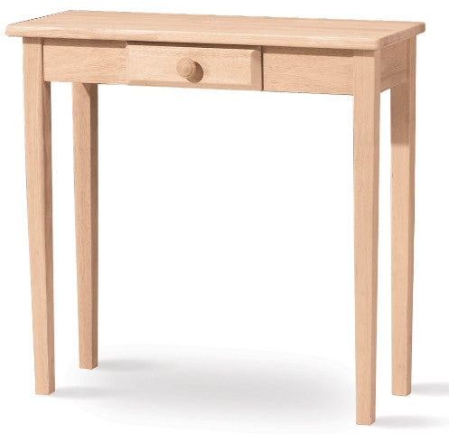 Hall Table with Drawer - UnfinishedFurnitureExpo