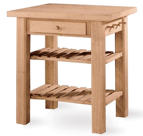 "24 Kitchen Island: Hardwood Kitchen Island - 36"" X 24"" WC-3624"