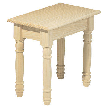 Solid Pine Melina Bench - UnfinishedFurnitureExpo