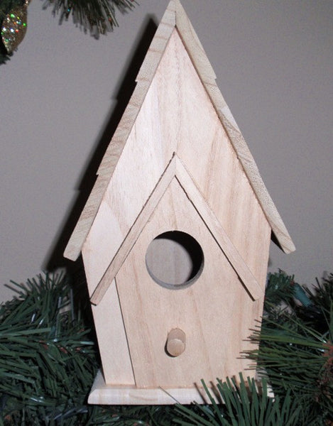 Grooved Roof Birdhouse - UnfinishedFurnitureExpo