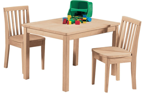 Unfinished Furniture Expo Solid Hardwood Mission Children's Table & Chair Set