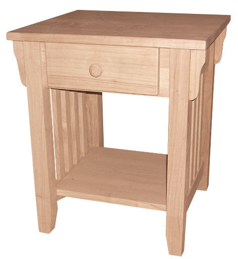 Hardwood Mission End Table - UnfinishedFurnitureExpo