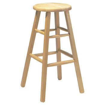 "30"" Solid Alder Cafe Barstool - UnfinishedFurnitureExpo"