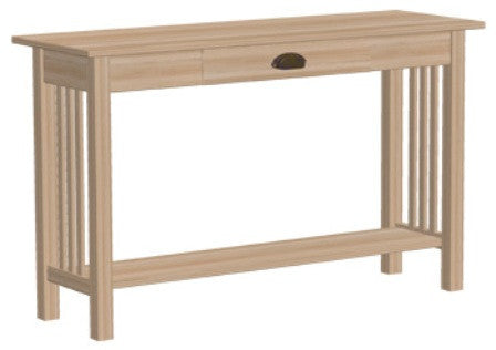 Unfinished Furniture Expo Solid Alder Mission Sofa Table