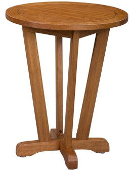 Newport Outdoor Side Table with Nutmeg Finish - UnfinishedFurnitureExpo