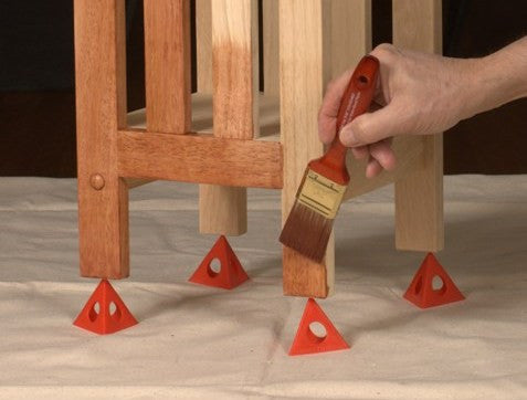Unfinished Furniture Expo Painter's Pyramid Staining & Painting Tool (Set of 10)