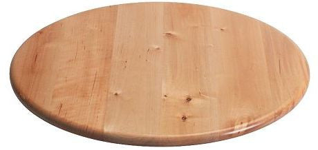"Solid Birchwood Lazy Susan with Natural Finish - 15-1/4"" Diameter"
