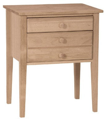 Solid Hardwood 2-Drawer Accent Table/Night Stand