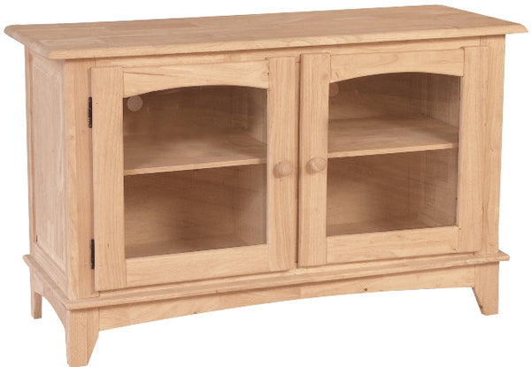 "Unfinished Furniture Expo Solid Hardwood Mission Entertainment Center - 48"" Wide"