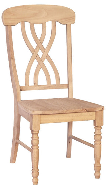 Unfinished Lattice Back Hardwood Dining Chair (2-Pack)