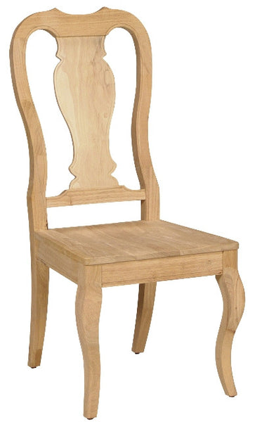 Unfinished Furniture Expo Hardwood Queen Anne Chair