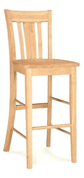 Unfinished Furniture Expo San Remo Hardwood Barstool