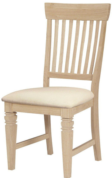 Seattle Dining Chairs with Upholstered Seats - Set of 2 - UnfinishedFurnitureExpo