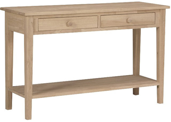 "Spencer Hardwood Unfinished Sofa Table (48"" Wide) - UnfinishedFurnitureExpo"