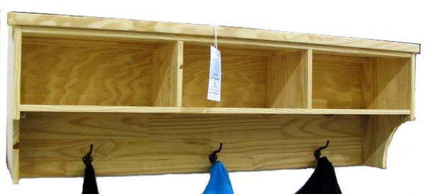 "Solid Hardwood Hanging Shelf - 50"" - UnfinishedFurnitureExpo"