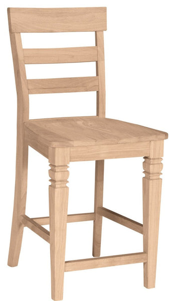Java Hardwood Bar Stool - UnfinishedFurnitureExpo