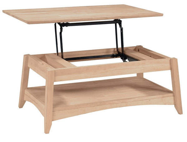 Bombay Lift Top Coffee Table - UnfinishedFurnitureExpo