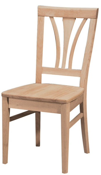 Fanback Hardwood Dining Chair - 2 Pack - UnfinishedFurnitureExpo