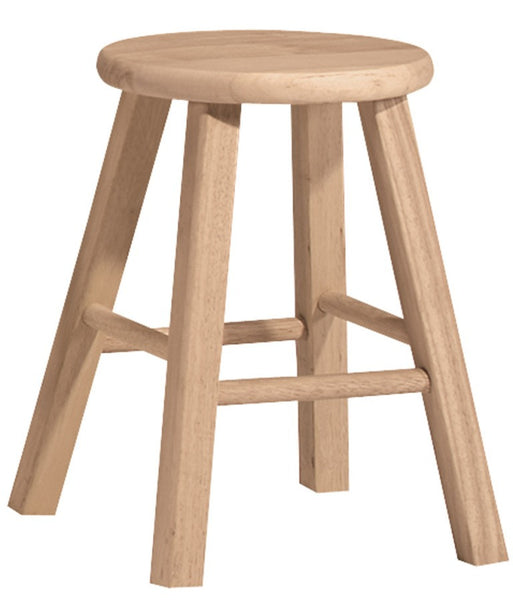 "18"" Hardwood Stool - 2 Pack - UnfinishedFurnitureExpo"