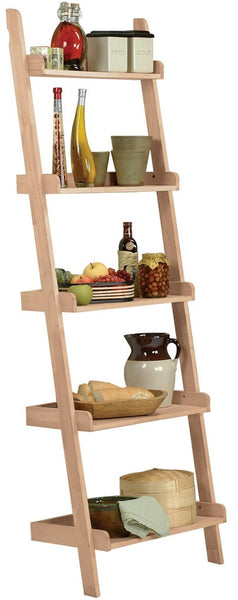 Hardwood Leaning Shelf
