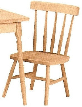 Unfinished Furniture Expo Solid Hardwood Tot's Chair - 2 Pack
