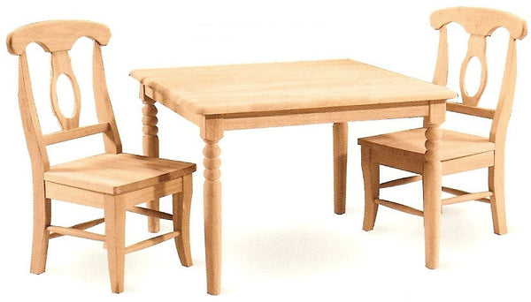 "Unfinished Furniture Expo Square Hardwood Juvenile Table - 32"" x 32"""