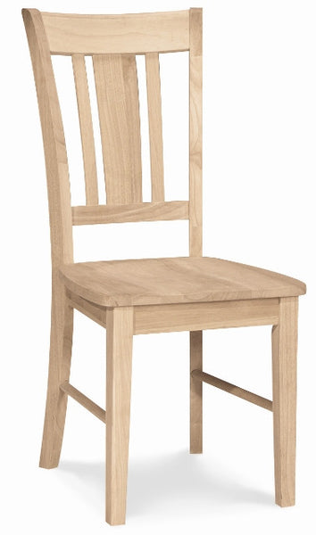 San Remo Slatback Hardwood Dining Chair 2-Pack (Finish Options) - UnfinishedFurnitureExpo