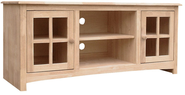 "Franklin 54"" Wide TV Stand/Entertainment Center - UnfinishedFurnitureExpo"