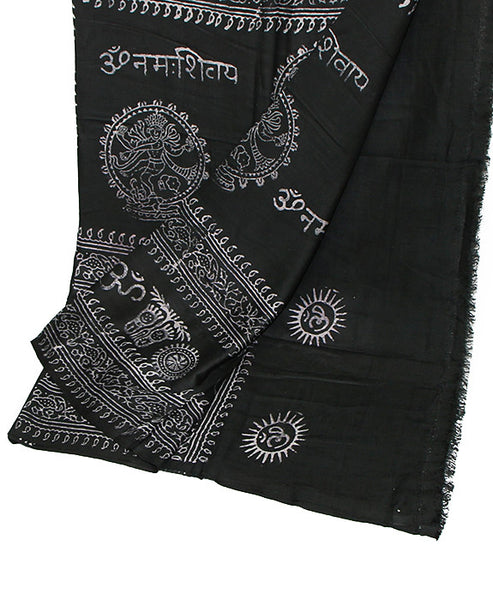 Black Cotton Yoga Wrap Bottom