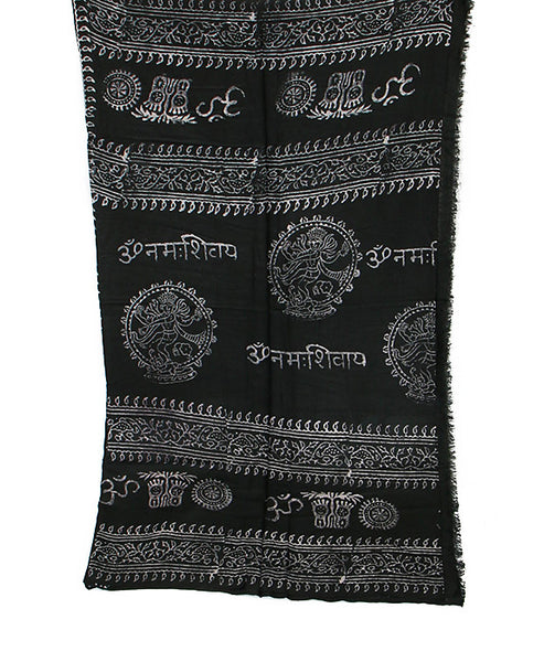 Black Cotton Yoga Wrap