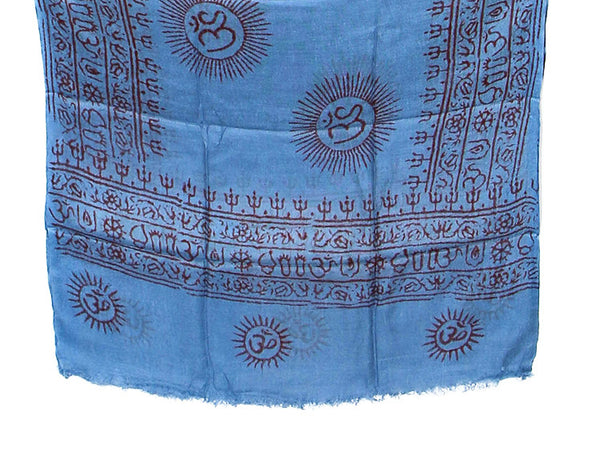 Blue Cotton Yoga Scarf Bottom