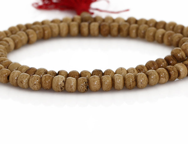 Buddhist Mala Beads Ivory Colored Bone Close Up