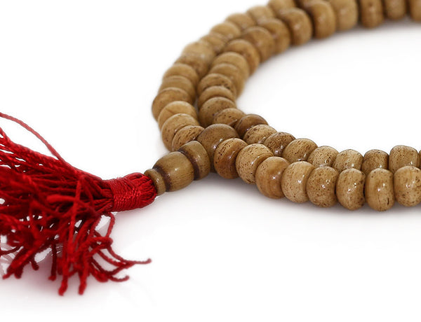 Buddhist Mala Beads featuring Ivory Colored Bone