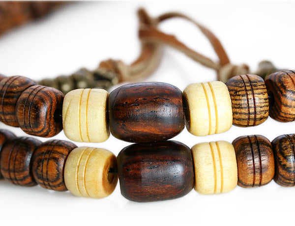 Buddhist Mala Beads Bocote and Cocobolo Wood Marker Beads