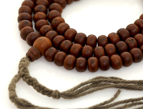 Tibetan Buddhist Mala Beads | Antique Style Phoenix Eye Bodhi Seed