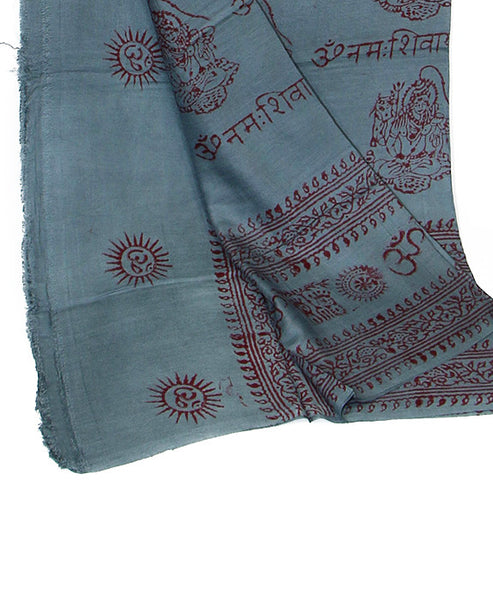 Gray Cotton Yoga Wrap Folded Bottom Section