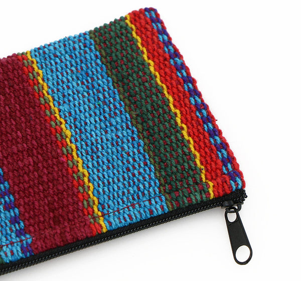 Mala Bag Rainbow Striped Cotton Close Up