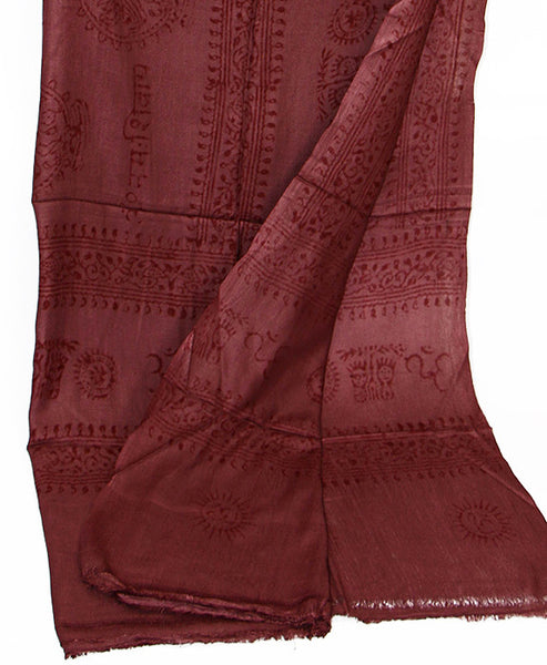 Maroon Cotton Yoga Wrap Bottom Section
