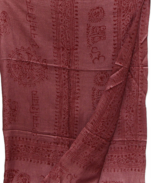 Maroon Cotton Yoga Wrap Top Section