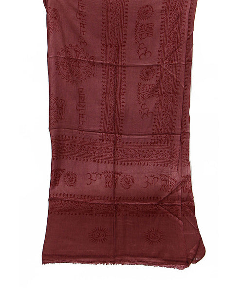 Maroon Cotton Yoga Wrap