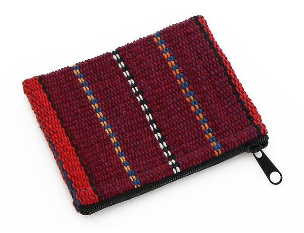 Maroon Striped Mala Bag